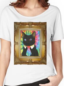 Psychedelic Business Cat Women's Relaxed Fit T-Shirt