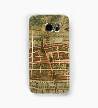 Kalkar Vintage map.Geography Germany ,city view,building,political,Lithography,historical fashion,geo design,Cartography,Country,Science,history,urban Samsung Galaxy Case/Skin