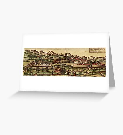 Kassel Vintage map.Geography Germany ,city view,building,political,Lithography,historical fashion,geo design,Cartography,Country,Science,history,urban Greeting Card