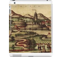 Kassel Vintage map.Geography Germany ,city view,building,political,Lithography,historical fashion,geo design,Cartography,Country,Science,history,urban iPad Case/Skin