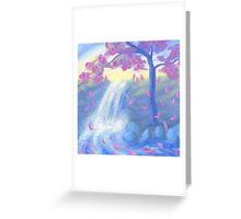 Sakura Falls Greeting Card