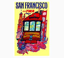 """""""TWA AIRLINES"""" Fly to San Francisco Advertising Print Unisex T-Shirt"""