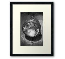 Old Headlamp II BW Framed Print