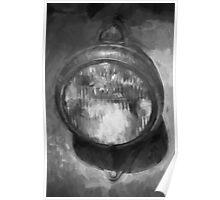 Old Headlamp II BW Poster