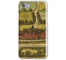 Bourbourg Vintage map.Geography France ,city view,building,political,Lithography,historical fashion,geo design,Cartography,Country,Science,history,urban iPhone Case/Skin