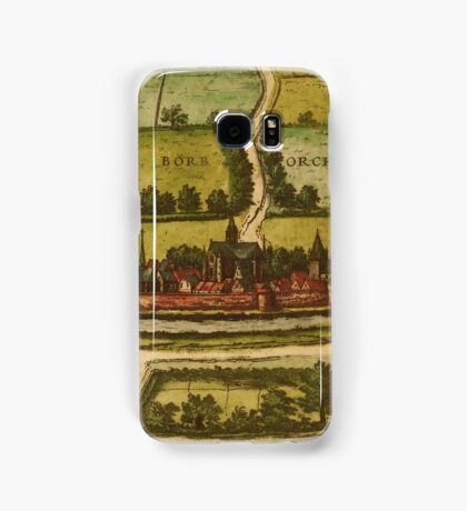 Bourbourg Vintage map.Geography France ,city view,building,political,Lithography,historical fashion,geo design,Cartography,Country,Science,history,urban Samsung Galaxy Case/Skin