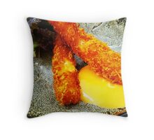 Comfort Food: Crumbed Prawns Throw Pillow