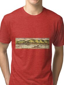 Boppard Vintage map.Geography Germany ,city view,building,political,Lithography,historical fashion,geo design,Cartography,Country,Science,history,urban Tri-blend T-Shirt