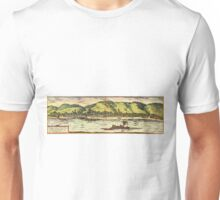 Boppard Vintage map.Geography Germany ,city view,building,political,Lithography,historical fashion,geo design,Cartography,Country,Science,history,urban Unisex T-Shirt