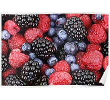 An assortment of red fruits Poster
