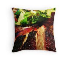Comfort Food: Duck & Salad Throw Pillow