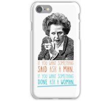 Iron Lady - Margaret Thatcher iPhone Case/Skin