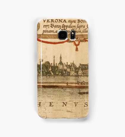Bonn Vintage map.Geography Germany ,city view,building,political,Lithography,historical fashion,geo design,Cartography,Country,Science,history,urban Samsung Galaxy Case/Skin