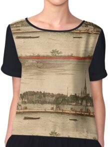 Bonn Vintage map.Geography Germany ,city view,building,political,Lithography,historical fashion,geo design,Cartography,Country,Science,history,urban Chiffon Top