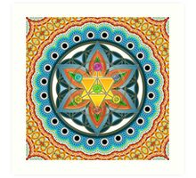 Merkaba, Chakras, Flower Of Life, Metatrons Cube, Sacred Geometry Art Print