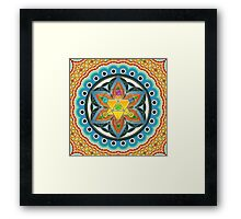Merkaba, Chakras, Flower Of Life, Metatrons Cube, Sacred Geometry Framed Print