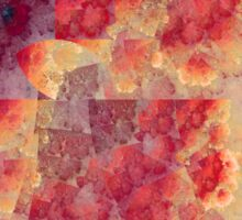 Red Clouds - Abstract Fractal Artwork Sticker