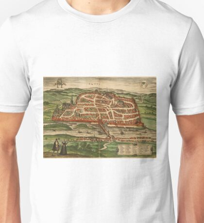 Blois Vintage map.Geography France ,city view,building,political,Lithography,historical fashion,geo design,Cartography,Country,Science,history,urban Unisex T-Shirt