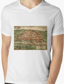Blois Vintage map.Geography France ,city view,building,political,Lithography,historical fashion,geo design,Cartography,Country,Science,history,urban Mens V-Neck T-Shirt
