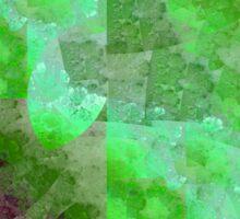 Clouds In Matrix - Abstract Fractal Artwork Sticker