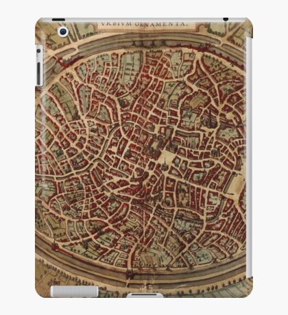 Brugge Vintage map.Geography Belgium ,city view,building,political,Lithography,historical fashion,geo design,Cartography,Country,Science,history,urban iPad Case/Skin