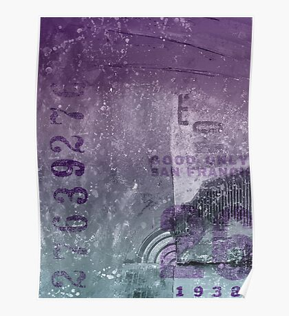 Purple abstract Poster