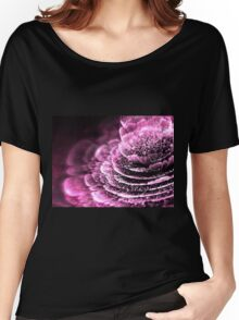 Pink Flower - Abstract Fractal Artwork Women's Relaxed Fit T-Shirt