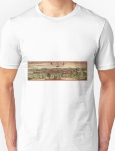 Budapest Vintage map.Geography Hungary ,city view,building,political,Lithography,historical fashion,geo design,Cartography,Country,Science,history,urban Unisex T-Shirt
