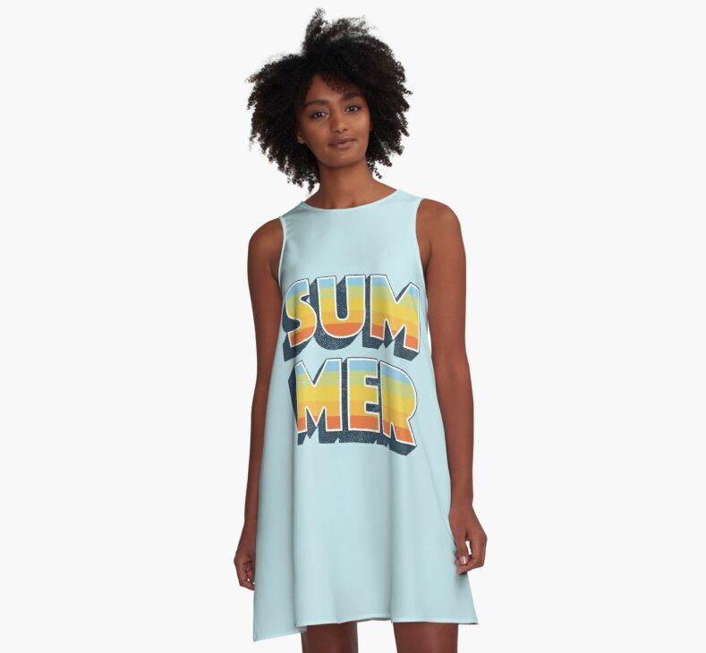 Summer A-Line Dress by wordquirk on Redbubble