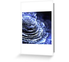 Blue Flower - Abstract Fractal Artwork Greeting Card