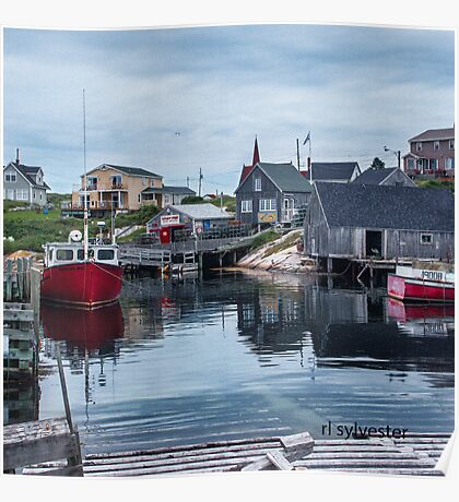 Pegggies Cove Nova Scotia  Poster