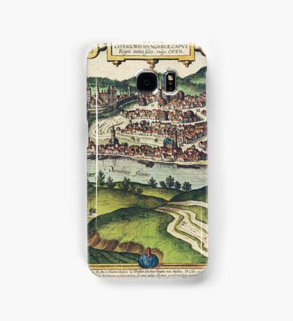 Budapest(2) Vintage map.Geography Hungary ,city view,building,political,Lithography,historical fashion,geo design,Cartography,Country,Science,history,urban Samsung Galaxy Case/Skin