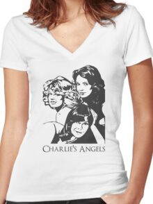 Charlie´s Angels Women's Fitted V-Neck T-Shirt