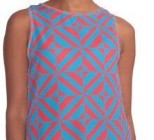 Portuguese azulejo tiles. Blue and red gorgeous seamless patterns.  Contrast Tank
