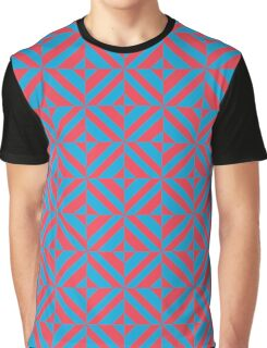 Portuguese azulejo tiles. Blue and red gorgeous seamless patterns.  Graphic T-Shirt