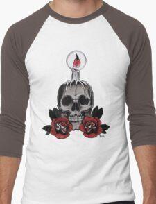 Voodoo Skull Men's Baseball ¾ T-Shirt