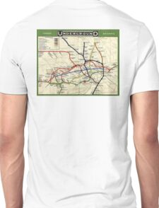TUBE, UNDERGROUND, MAP, 1908, London, Historic, UK, GB, England, on WHITE Unisex T-Shirt