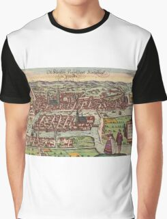 Konigsberg Vintage map.Geography Germany ,city view,building,political,Lithography,historical fashion,geo design,Cartography,Country,Science,history,urban Graphic T-Shirt
