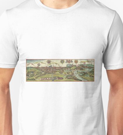 Krakow Vintage map.Geography Poland ,city view,building,political,Lithography,historical fashion,geo design,Cartography,Country,Science,history,urban Unisex T-Shirt