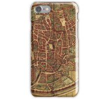 Brussels Vintage map.Geography Belgium ,city view,building,political,Lithography,historical fashion,geo design,Cartography,Country,Science,history,urban iPhone Case/Skin
