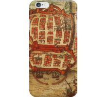 Cagliari Vintage map.Geography Italy ,city view,building,political,Lithography,historical fashion,geo design,Cartography,Country,Science,history,urban iPhone Case/Skin
