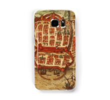 Cagliari Vintage map.Geography Italy ,city view,building,political,Lithography,historical fashion,geo design,Cartography,Country,Science,history,urban Samsung Galaxy Case/Skin