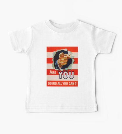Vintage Uncle Same - Are you doing all you can Baby Tee