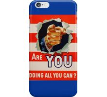 Vintage Uncle Same - Are you doing all you can iPhone Case/Skin
