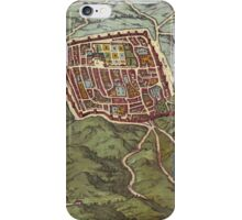 Caiazzo Vintage map.Geography Italy ,city view,building,political,Lithography,historical fashion,geo design,Cartography,Country,Science,history,urban iPhone Case/Skin