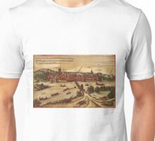 Frankfurt An Der Oder Vintage map.Geography Germany ,city view,building,political,Lithography,historical fashion,geo design,Cartography,Country,Science,history,urban Unisex T-Shirt
