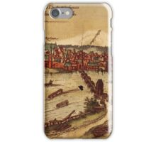 Frankfurt An Der Oder Vintage map.Geography Germany ,city view,building,political,Lithography,historical fashion,geo design,Cartography,Country,Science,history,urban iPhone Case/Skin