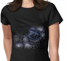 Dark Flower - Abstract Fractal Artwork Womens Fitted T-Shirt