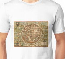 Freiberg Vintage map.Geography Germany ,city view,building,political,Lithography,historical fashion,geo design,Cartography,Country,Science,history,urban Unisex T-Shirt