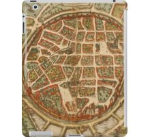 Freiberg Vintage map.Geography Germany ,city view,building,political,Lithography,historical fashion,geo design,Cartography,Country,Science,history,urban iPad Case/Skin